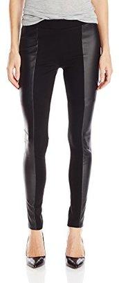 Buffalo David Bitton Women's Faizah Ponte Legging with PU Faux Leather Detail $69 thestylecure.com