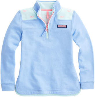 Vineyard Vines Girls Colorblock Party Whale Relaxed Shep Shirt