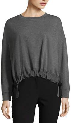 WORTHINGTON Worthington Drawstring Waist Sweatshirt