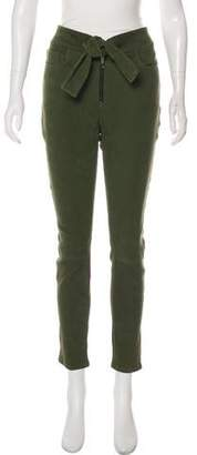 Frame Suede High-Rise Skinny Pants w/ Tags