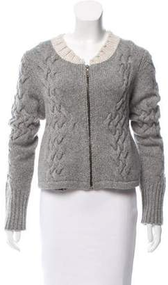 Proenza Schouler Cable Knit Zip-Up Cardigan