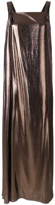 Alberta Ferretti metallic fluid dress