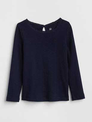 Gap Lace Trim Long Sleeve T-Shirt