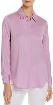 Donna Karan Long-Sleeve Button-Down Top