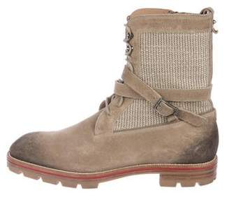 Christian Louboutin Suede Combat Boots