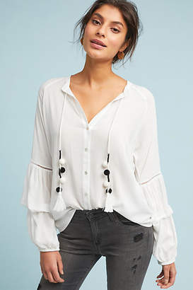 Central Park West Tania Tasseled Peasant Top