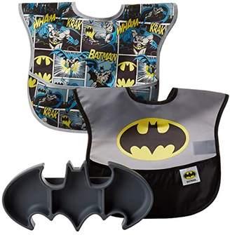 Bumkins DC Comics Batman Silicone Grip Dish w/ Bib 2-Pack