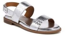 Franco Sarto Velocity Metallic Snakeskin Print Sandals