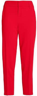 Alice + Olivia Stacey Slim Cropped Crepe Tapered Pants