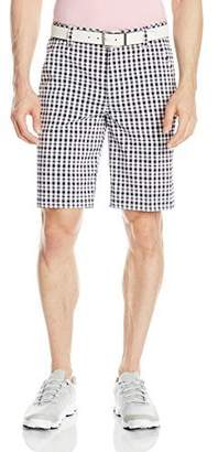 Izod Men's Flat Front Coastal Plaid Golf Short