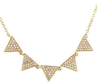 Stone & Strand 14K Diamond Triangle Necklace