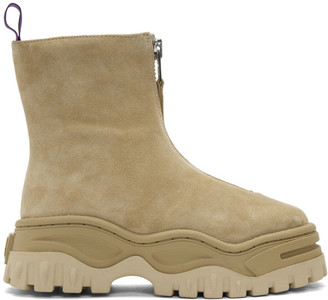 Eytys Tan Suede Raven Boots