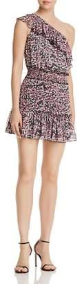 Karina Grimaldi Josue Ruffled One-Shoulder Floral Dress