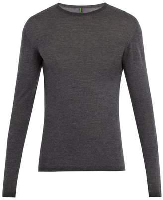 Iffley road Iffley Road - Dartmore Crew Neck Wool Base Layer Top - Mens - Grey