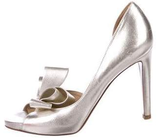 Valentino Metallic Bow Sandals