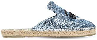 Chiara Ferragni 20mm Flirty Eye Glittered Espadrilles