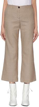 Aalto Wool houndstooth check cropped flared suiting pants