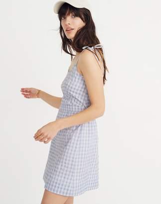 Madewell Gingham Tie-Strap Dress