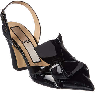 N°21 N21 No. 21 Abstract Bow Patent Slingback Pump
