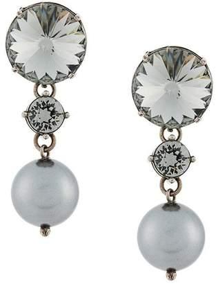 Miu Miu drop pearl earrings