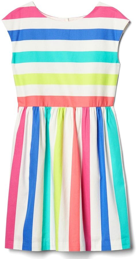 Bold stripe cap dress 3