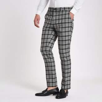 River Island Grey check skinny smart pants