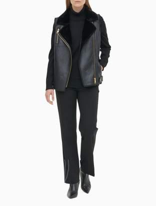 Calvin Klein Sherpa Zip Moto Vest