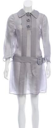 Prada Organza Shirt Dress