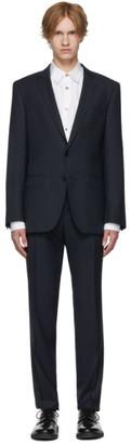BOSS Blue Micro Check Wool Huge 6/Genius 5 Suit