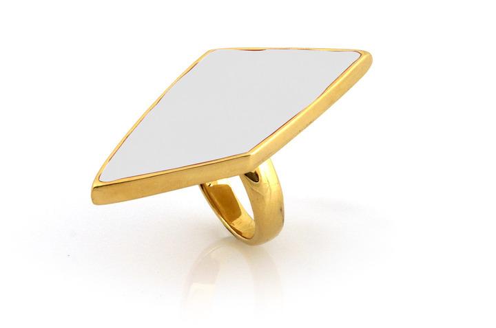 Belle Noel by Kim Kardashian Asymmetrical Diamond Ring