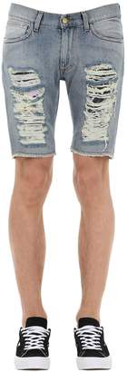 Mauna Kea All Over Ripped Short Denim Pants