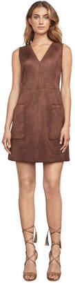 BCBGMAXAZRIA Hedi Faux-Suede Dress