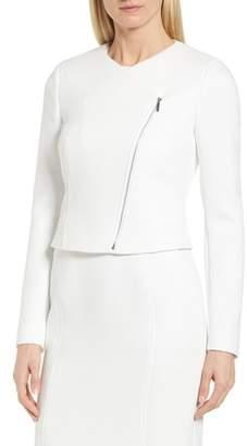 BOSS Juleama Compact Twill Asymmetrical Zip Jacket