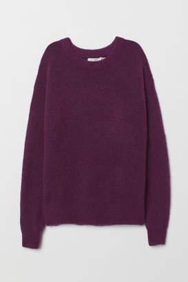 H&M Fine-knit, wool-blend jumper - Purple