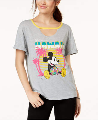 Hybrid Love Tribe Juniors' Disney Mickey Mouse Hawaii Graphic T-Shirt