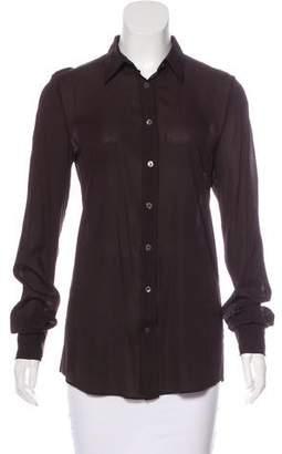 Dolce & Gabbana Long Sleeve Button-Up Top
