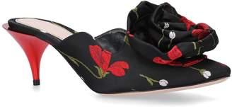 Alexander McQueen Jacquard Flower Mules 65