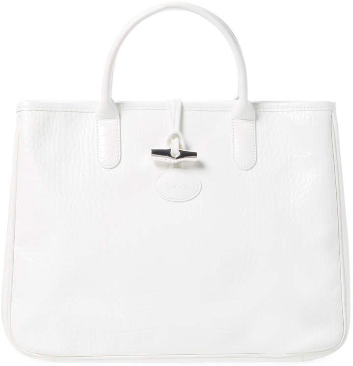 Longchamp Women's Roseau Large Embossed Leather Tote