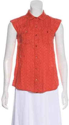 Marc by Marc Jacobs Button Down Cap Sleeve Shirt