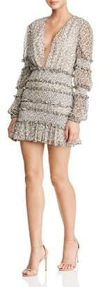 DAY Birger et Mikkelsen The East Order Behati Tiered Smocked Floral Mini Dress