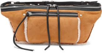 Rag & Bone Elliot Large Shearling-trimmed Suede Belt Bag - Tan