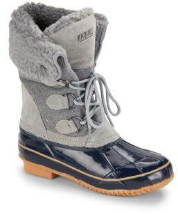 Faux Fur Suede Boots $109 thestylecure.com