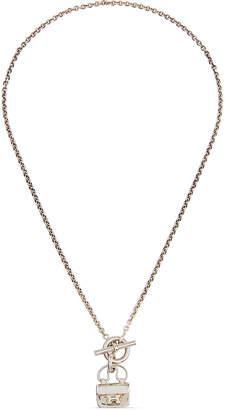 Hermes Estate Constance Pendant Necklace Silver