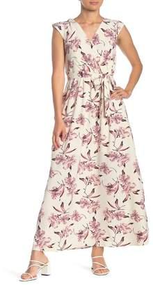 June & Hudson V-Neck Floral Print Dress