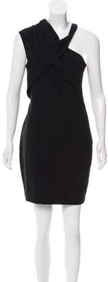 Halston Asymmetrical Bodycon Dress
