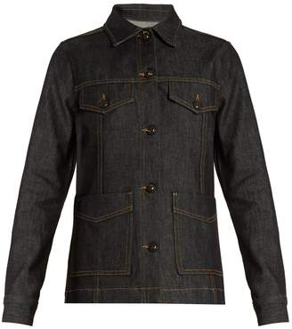 Frame Le Raw cotton-blend denim jacket