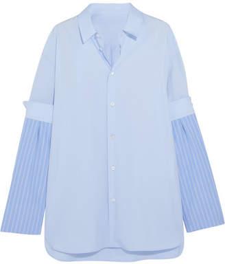 Maison Margiela - Cotton Shirt - Blue $775 thestylecure.com