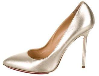 Charlotte Olympia Metallic Pointed-Toe Pumps