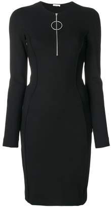 Thierry Mugler zipped neck dress