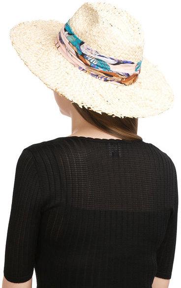 Emilio PucciEmilio Pucci Straw Hat with Printed Trim
